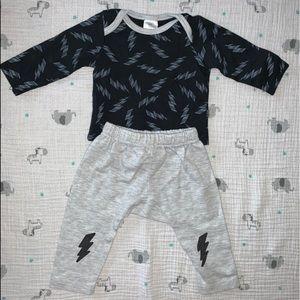 Little Beginnings Baby Boy T-Shirt & Pants Set